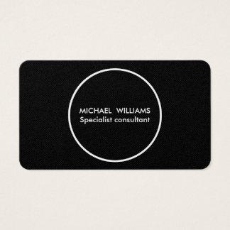 Professionnel élégant cercle doré simple minimum cartes de visite