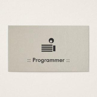 Professionnel élégant simple de programmeur cartes de visite