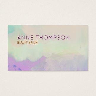 professionnel féminin et de beauté d'aquarelle cartes de visite