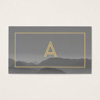 Professionnel gris moderne de cool de photographie cartes de visite