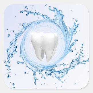 Professionnel médical de dent de dentiste - sticker carré