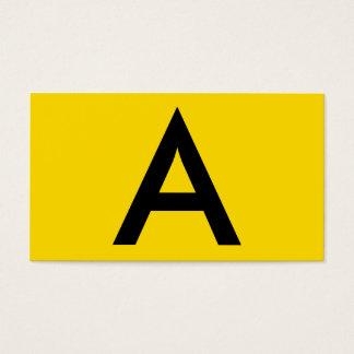 Professionnel noir et jaune audacieux moderne de cartes de visite