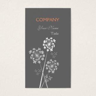Professionnel rêveur de fantaisie élégant floral cartes de visite