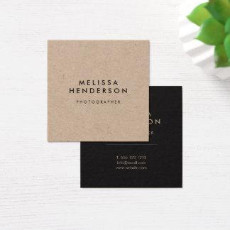 Professionnel rustique minimaliste de Papier Carte De Visite Carré