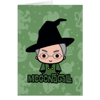 Professor McGonagall Cartoon Character Art Kaart