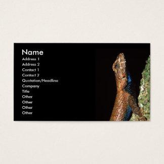 profil ou carte de visite, lézard