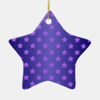 Profil sous convention astérisque dans pourpre et ornement étoile en céramique