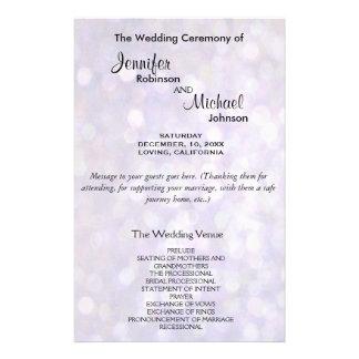 Programma | Elegante van het huwelijk Lichten Flyer 14 X 21,6 Cm