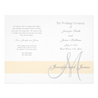 Programma | van het Huwelijk van Champagne Grijs Flyer 21,6 X 27,9 Cm