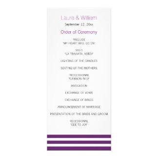 Programma van het Huwelijk van de aubergine het