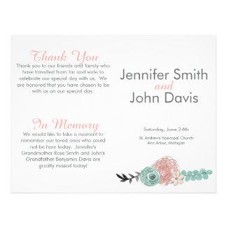 Programma van het Huwelijk van de Bloemen van het Flyer 21,6 X 27,9 Cm