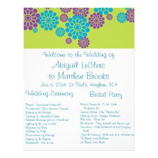 Programma van het Huwelijk van de Douane van de Pa Folder