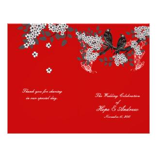 Programma van het Huwelijk van de vintage Kers van Flyer 21,6 X 27,9 Cm