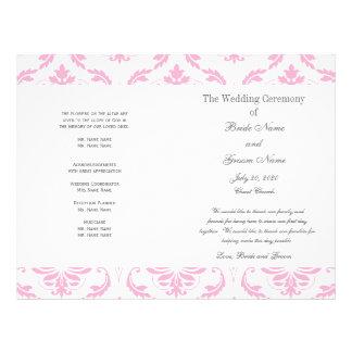 Programma van het Huwelijk van het Damast van het  Folders