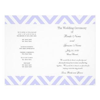 Programma van het Huwelijk van het lila Patroon va Gepersonaliseerde Folder