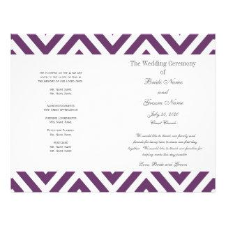 Programma van het Huwelijk van het paarse Patroon  Flyer 21,6 X 27,9 Cm