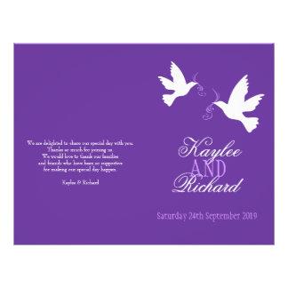 Programma van het Huwelijk van het twee het witte Folder