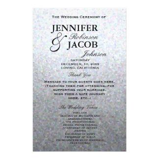 Programma | van het huwelijk Zacht Zilver Flyer 14 X 21,6 Cm
