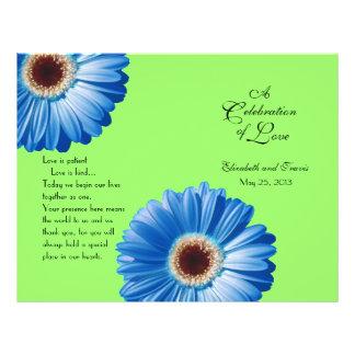 Programma van het Madeliefje van het huwelijk het  Persoonlijke Folder