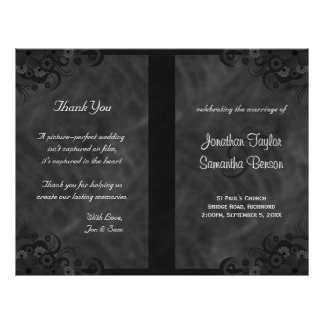 Programma's van het Huwelijk van de hibiscus de Flyer 21,6 X 27,9 Cm