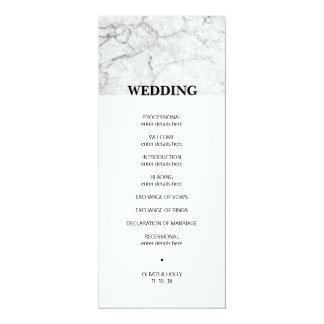 Programme de marbre moderne de mariage