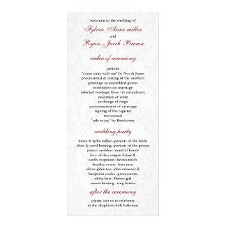 Programme de mariage damassé carte double