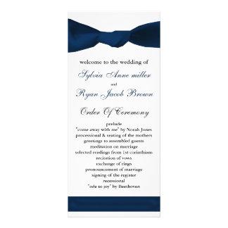 programme de mariage d'arc de bleu marine double cartes customisées