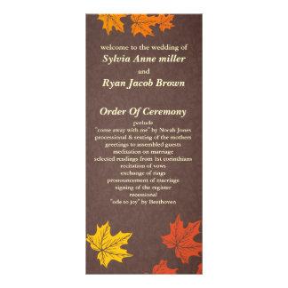 programme de mariage de automne doubles cartes