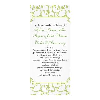 programme de mariage de chaux motif pour double carte