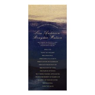 Programme de mariage de lavage d'aquarelle de cartons d'informations  10 cm x 22,9 cm