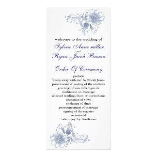 programme de mariage de marine cartes doubles