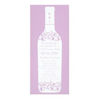Programme de mariage de vignoble carton d'invitation  10,16 cm x 23,49 cm