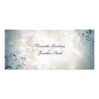 Carte Publicitaire Programme de mariage - feuillage vintage élégant