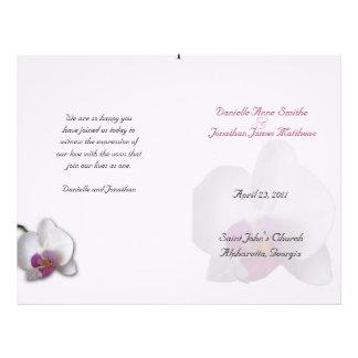 Programme du mariage de Danielle Prospectus 21,6 Cm X 24,94 Cm