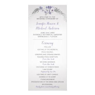 Programme floral argenté gris pourpre du mariage