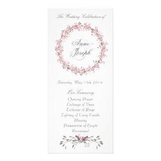 Programme floral chic de mariage