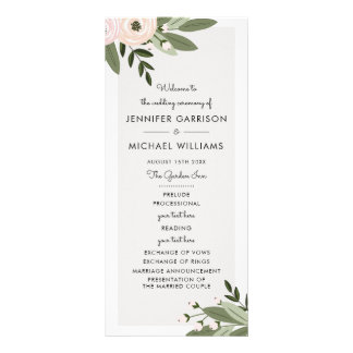 Programme floral de brins de mariage