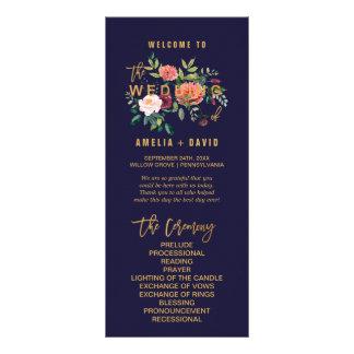 Programme floral de mariage d'automne