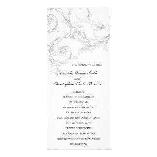Programme floral élégant de mariage modèle de carte double