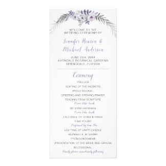 Programme floral gris de mariage de la lavande V#2
