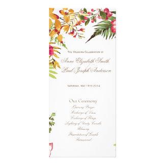 Programme floral II de mariage d'été Cartons D'informations 10 Cm X 22,9 Cm
