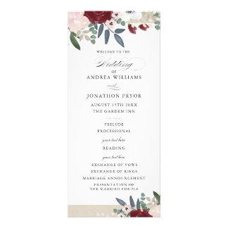 Programme floral romantique de mariage
