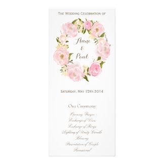 Programme floral romantique de monogramme de