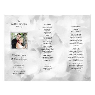 Programme noir et blanc triple de mariage de photo prospectus 21,6 cm x 24,94 cm