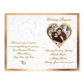 Programme personnalisable élégant de mariage de prospectus 21,6 cm x 24,94 cm