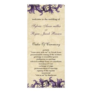 programme pourpre de mariage double cartes customisées