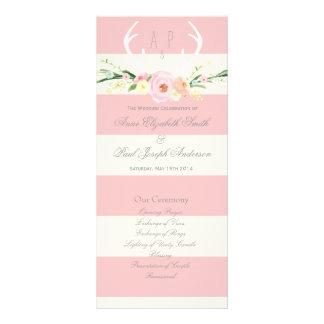 Programme rose d'andouillers et beige floral de