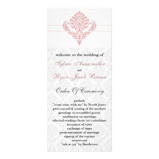 programme rose de mariage de damassé double carte