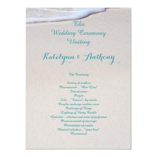 Programmes de cérémonie de mariage de sable de carton d'invitation  16,51 cm x 22,22 cm