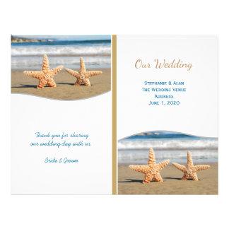 Programmes de mariage de plage de couples prospectus 21,6 cm x 24,94 cm